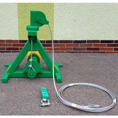 Rope shaker for fruit trees with three-point attachment