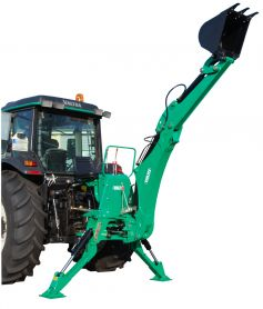 Sturdy backhoe with 3.60m reach