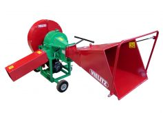 Wheels with hand drawbar for easy manoeuvring in the yard