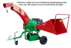 Professional long chipper GH 70 B-23.5 on chassis with Kohler 4-stroke industrial petrol engine 17.3 kW (23.5 hp)