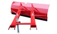 Firmly welded and reinforced - our snow blade for forklift attachment