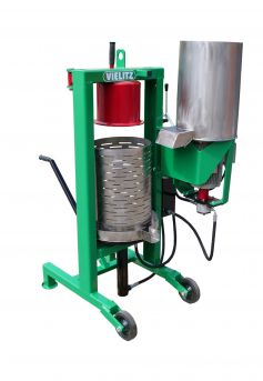hydraulic juice press for fruit with fruit mill