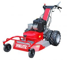 Rotary mower with power steering, hydrostatic transmission, 10,5hp engine. Professional technology at a top price (twin tyres optional)