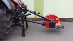 Robust three-point attachment of the stump cutter