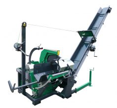 Tilting circular saw with conveyor belt 4m (optional 5m), for firewood with 280mm cutting depth