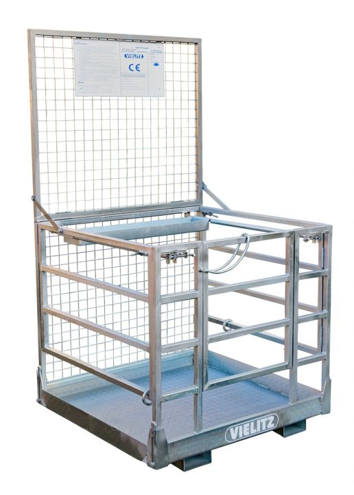 Working platform/work basket FOLDABLE, type AB 300 F, surface galvanized