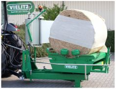 Professional bale wrapper for a perfect result