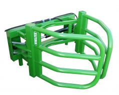 Vielitz bale gripper: smooth on the outside to prevent damage to neighbouring bales, for bale diameters 0.90m to 1.80m