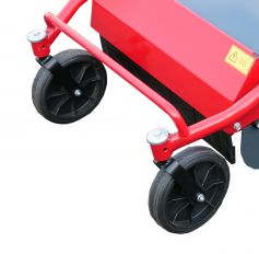 High grass mower 2 front wheels 360° rotatable and lockable on the slope