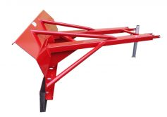 Side view snow blade for forklift attachment