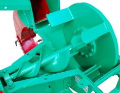 robust chipping auger with 3-fold carbide coated cutting edge