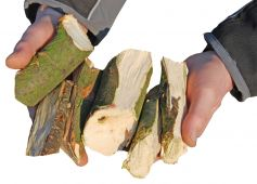 Chopping result: coarse energy wood (example photo)