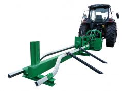 Series: hook-in and laterally adjustable roll-up aid for logs. Series: adjustable forward limiter to prevent the pressure plate from driving against the wedge