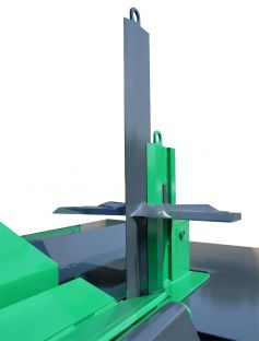 Hydraulically height-adjustable splitting wedge with zero position