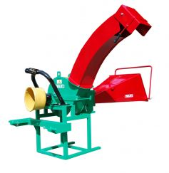 Energy wood crusher with high ejection