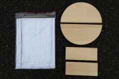 press cloth and spacers made of beech wood